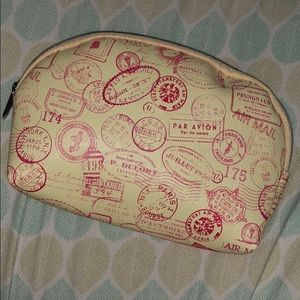 Handbags - Yellow & Coral makeup bag